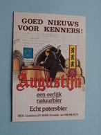 AUGUSTIJN Een Eerlijk Natuurbier / BIOS Ertvelde - Echt Patersbier ( Zie / Voir Photo ) ( Tafelstaander ) Karton ! - Alcools