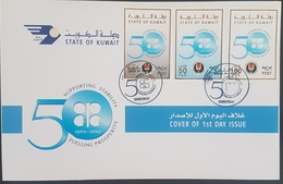 DE23- Kuwait 2010 FDC - 50th Anniv Of OPEC - Fuel - Oil - Mi. 1977-1979 - Kuwait