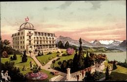 Cp Luzern Stadt Schweiz, Hotel U. Pension Terrasse, Außenansicht - LU Lucerne