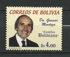 Bolivia 2002 Doctor Gunnar Mendoza Commemoration. MNH - Bolivie