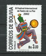 Bolivia 2002 The 3rd International Theatre Festival, La Paz. MNH - Bolivie