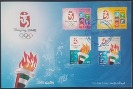 DE23- UAE 2008 FDC - Beijing Olympic Games China - United Arab Emirates