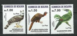 Bolivia 2005 Birds Of Regions Of La Paz. MNH - Bolivie