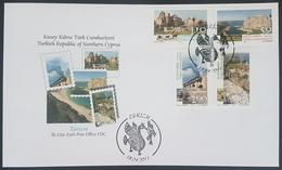 DE23- Turkish Cyprus 2011 FDC - Tourism, Archeology, Ancient Ruins - Cyprus (Turkey)