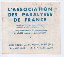 Carnet Incomplet ASSOCIATION DES PARALYSES DE FRANCE (PPP16473) - Cinderellas