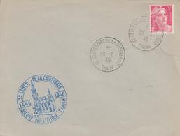 Enveloppe  FRANCE  5éme  Centenaire  De  La  Cathédrale  De   THANN   1946 - Postmark Collection (Covers)