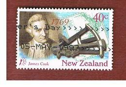 NUOVA ZELANDA (NEW ZEALAND) - SG 2051  -  1997   J. COOK & SEXTANT            -  USED° - New Zealand