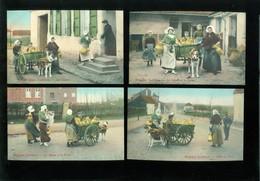 Beau Lot De 10 Cartes Postales De Laitières  Laitière  Attelage De Chien - Melkvrouwtje  Hondenspan - Cartes Postales
