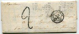 PARIS LAC Du 11/04/1849 Avec TFM De 2+ Verso Dateur N°1317 ROUTE N°12 - 1849-1876: Classic Period