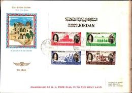 74629) GIORDANIA-FDC-1964  GIORDANIA FDC VIAGGIO DEL PAPA PAOLOVI IN TERRA SANTA-BF - Giordania