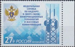 Russia, 2018, Mi. 2625, Federal Service For Supervision Of Communications, Information Technology And Mass Media, MNH - 1992-.... Federation