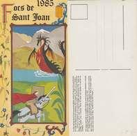 66 Carte Focs De Sant Joan 1985 Tradition Catalane Catalunya éditeur Imprimerie Faraill Tbe Non Voyagé - Roussillon