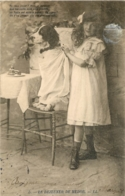 SERIE COMPLETE DE 6 CARTES LE DEJEUNER DE MEDOR 1904 - Chiens