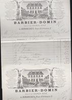 Avranches (50) Barbier Domin, Rue Orleans - 2 Factures 1878 - En Tete Litographié - Frankreich