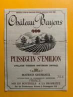 9305 - Château Bayens 1981 Puisseguin Saint-Emilion - Bordeaux