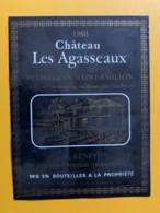 9306 - Château Les Agasseaux 1980 Puisseguin Saint-Emilion - Bordeaux