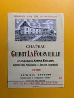 9310 - Château Guibot La Fourvieille 1978  Puisseguin Saint-Emilion - Bordeaux