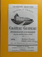 9309 - Château Guibeau 1976, 1981 Et Sans Millésime  Puisseguin Saint-Emilion 3 étiquettes - Bordeaux