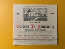 9312 - Château Guibeau La Fourvieille 1977 Puisseguin Saint-Emilion 37,5cl - Bordeaux