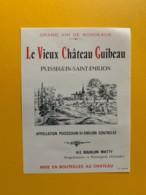 9313 - Le Vieux  Château Guibeau Puisseguin Saint-Emilion - Bordeaux