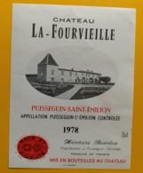9314 - Château La Fourvieille 1978 Puisseguin Saint-Emilion - Bordeaux