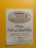 9315 - Château Côtes De Saint Clair 1980 Puisseguin Saint-Emilion - Bordeaux