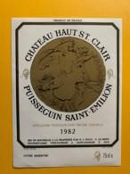 9316 - Château Haut St. Clair 1982 Puisseguin Saint-Emilion - Bordeaux