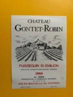 9316 - Château Gontet-Robin  1980 Puisseguin Saint-Emilion - Bordeaux
