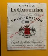 9321 - Château La Gaffelière 1974   Saint-Emilion - Bordeaux