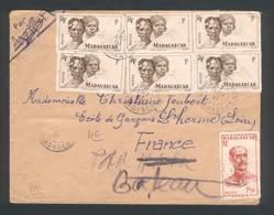 Enveloppe De 1951  Voyagée Par Bateau - Madagascar (1889-1960)