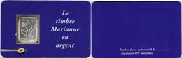 FRANCE Autoadhésif  85 ** MNH Marianne De Lamouche En Argent 999/1000ème Sous Blister Et Support Format CB - Adhésifs (autocollants)