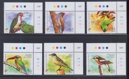 "Singapore 2007 Birds Definitive 20c, 45c, 50c, 55c, 65c, 80c With Imprint ""2007B"" 6v MNH - Singapore (1959-...)"
