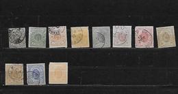 LUXEMBOURG 13/15à20/23 Oblitérés Rond - 1859-1880 Armoiries