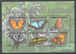 A513 ANTIGUA & BARBUDA FAUNA BUTTERFLIES OF THE CARIBBEAN 1KB MNH - Vlinders