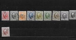 LUXEMBOURG 59 à 68 Oblitérés Rond - 1891 Adolphe De Face