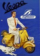 Motocycle Postcard Vespa Hoffmann 1950 - Reproduction - Pubblicitari