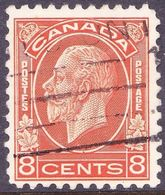 CANADA 1932 KGV 8c Red-Orange SG324 Fine Used - 1911-1935 Reign Of George V