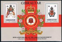 Gibraltar - Cinquantenaire Des Forces De Défense (Régiment De Gibraltar) BF 11 ** - Gibraltar