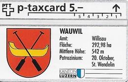 PTT P: KP-93/78 309L Kanton Luzern - Amt Willisau, Wauwil. Mint - Svizzera