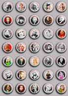 35 X Blondie Band-Deborah Harry Music Fan ART BADGE BUTTON PIN SET 3 (1inch/25mm Diameter) - Music