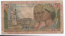C17 Billet Des Antlles Guyane 5 Francs Type Pointe à Pitre - Francia