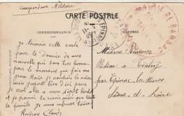 Cachet Mairie De Barsac Gironde 3/11/1914 Correspondance Militaire Sur Carte Postale Pour Epinac Les Mines Saône Et Loir - Storia Postale