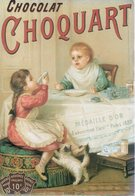 REF 354 - CPM Chocolat CHOQUART Chat Enfant - Reclame