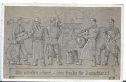 III-Pro010/ Propagandakarte,  Gemeinsam Arbeiten Für Deutschland. Sonderkarte Zum Tag Der Arbeit - Briefe U. Dokumente