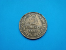 URSS - CCCP  3 Kopeck  1953 - Rusland