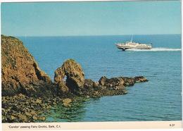 Ferry 'Condor' Passing Fairy Grotto - Sark - (Channel Islands) - Sark
