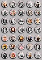 35 X Blondie Band-Deborah Harry Music Fan ART BADGE BUTTON PIN SET 4 (1inch/25mm Diameter) - Music