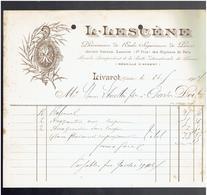 FACTURE 1904 LESCENE PHARMACIEN A LIVAROT CALVADOS - France