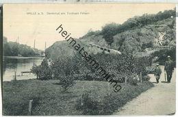 Halle - Denkmal Am Trothaer Felsen - Verlag W. H. D. 8299 - Halle (Saale)