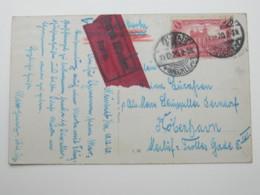 1920 , Neustadt , Eilbotenkarte Mit Flugpost Nach Dänemark - Briefe U. Dokumente